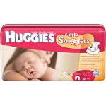 Huggies ® Little Snuggers Diapers for Kids Newborn - BG of 36 EA