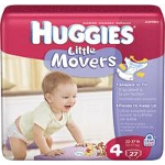 Huggies ® Little Movers Diapers for Kids Size 4, Jumbo - BG of 27 EA