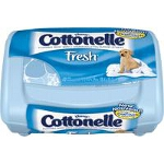 Cottonelle Fresh Flushable Moist Wipes for Skin Care, comes in a Tub, Alcohol-free, Sewer and Septic-safe, 42 Count -PK of 42 EA