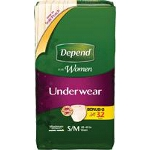 Depend ® Super Absorbency Womens Underwear, Pull On Adult Diapers and Pull Ups Small/Medium - BG of 32 EA