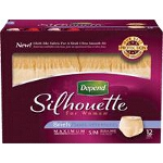 Depend Silhouette Briefs, Discreet Pull Ons for Women, Small/Medium, 28