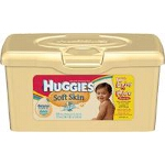 Huggies ® Soft Skin Baby Wipes for Skin Care Pop-up Tub, Pleasant, Fresh Scented, Alcohol-free - PK of 64 EA
