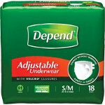 Depend ® Adjustable Super Plus Absorbency Underwear, Pull On Adult Diapers and Pull Ups Small/Medium, 28