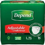 Depend ® Adjustable Super Plus Absorbency Underwear, Pull On Adult Diapers and Pull Ups Large/Extra-Large, 44
