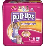 Pull-Ups Training Pants Pull Ons for Girls with Learning Design 2T/3T - PK of 26 EA