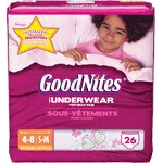Goodnites Youth Pants Pull Ons for Girls Small/Medium, Mega Pack - PK of 26 EA