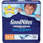 Goodnites Youth Pants for Boys Small/Medium, Mega Pack - PK of 26 EA