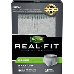 Depend Real Fit Briefs, Discreet Pull Ons for Men, Small/Medium, 28