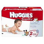 HUGGIES Snug & Dry Disposable Diapers for Kids Size 4 - BG of 31 EA