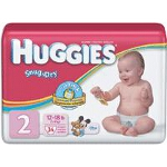 HUGGIES Snug & Dry Diapers for Kids, Size 2 - PK of 34 EA