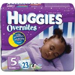 Huggies ® Overnite Diapers for Kids Size 5, Jumbo, Unique, Unisex - PK of 23 EA