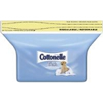Cottonelle Flushable Moist Wipes for Skin Care Refill, Flushable, Alcohol-free - PK of 84 EA