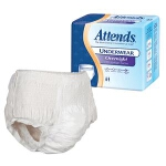 Attends Overnight Protective Underwear, Pull Up Adult Diapers with Leakage Barriers, X-Large 58