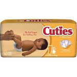 Prevail ® Cuties Baby Diapers for Kids Size 1, 8 to 14 lb - Qty: BG of 50 EA