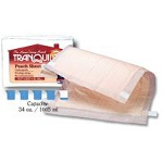 "Tranquility ® Peach Sheet Incontinence Underpad, Bed Pad 21-1/2"" x 32-1/2"", 34Oz, Latex-free - Qty: BG of 12 EA"