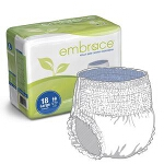 Embrace Adult Skin Caring Pull On Diapers and Pull Up Underwear Large, 58