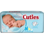 Prevail � Cuties Baby Diapers for Kids Size Newborn, 10 lb, Comfortable, Ultra-absorbent Core - Qty: BG of 42 EA