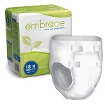 Embrace Ultimate-absorbency Briefs, Diapers with Leakage Barrier Medium, 32