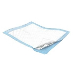 "Kendall Durasorb Incontinence Underpad, Bed Pad 30"" x 30"", Fluff Core, Light Blue Back sheet - Qty: BG of 10 EA"