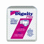 "Dignity ® Plus Adult Fitted Briefs, Diapers 63"" to 68"" 2Extra-large, Super-absorbent - Qty: BG of 10 EA"