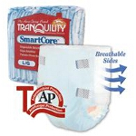 Tranquility SmartCore Disposable Briefs Fitted Adult Diapers Small Green 24