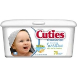 Cuties Baby Wipes for Skin Care Fragrance Free - Qty: PK of 80 EA