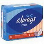 Always Maxi-Pads Maximum Protection with Wing, Sterile, Latex-free - Qty: CA of 144 EA