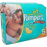 Pampers Baby-Dry Diapers for Kids Size 4, 22 to 37lb, Disposable, Latex-free - Qty: PK of 24 EA