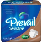 "Prevail Breezer Adult Briefs, Diapers X-Large 59"" - 64"" - Qty: BG of 15 EA"