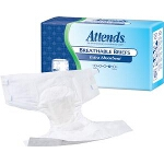 Attends ® Breathable Briefs Fitted Adult Diapers, Medium (32-44