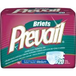Prevail ® PM Premium Briefs Fitted Adult Diapers Medium 32
