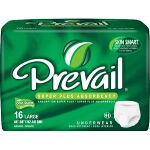 Prevail Adjustable Adult Diapers Super Plus Large - Qty: BG of 16 EA