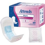 Attends ® Bladder Control Pads for Incontinence, Extra Plus, 12.5