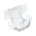DryTime ® Baby Diapers for Kids Size 3, 12 to 24lb, Disposable, Latex-free, Anti-Leak Cuffs, Soft Foam-Elastic Waistband - Qty: BG of 24 EA