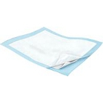 "Kendall Wings Quilted Breathable Incontinence Underpad, Bed Pad 23"" x 36"", Polymer-impregnated Tissue, Polypropylene Backing, Light Blue Back sheet - Qty: BG of 12 EA"
