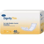 "Dignity ® Lites Thinserts Pads for Adult Incontinence 3-1/2"" x 12"", Absorbency - Qty: PK of 40 EA"