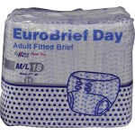 Mediprime EuroBriefs Day Briefs, Adult Diapers Medium, 27