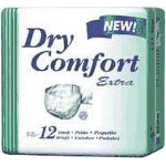 Dry Comfort Extra Briefs, Adult Diapers Small, 23