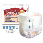 Tranquility ATN (All-Through-the-Night) Disposable Briefs, Adult Diapers Extra-Small, 18