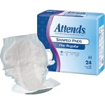 Attends ® Shaped Pads for Incontinence, Day Regular - Qty: BG of 24 EA