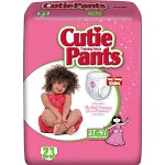 Prevail � Cuties Training Pants Pull Ups for Girls, 3T-4T, 32 to 40 lb, Elastic Waistband, Comfortable - Qty: PK of 23 EA