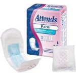 Attends ® Bladder Control Pads for Incontinence, Regular, 8.5