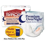 Tranquility Premium OverNight Disposable Absorbent Underwear, Pull On Diapers and Pull Ups Extra-small 17