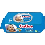 Cuties Baby Wipes for Skin Care Quilted Soft Pack - Qty: PK of 78 EA