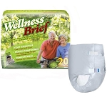"Wellness Briefs Super Absorbent X-Large 47""-67"" - Qty: BG of 20 EA"